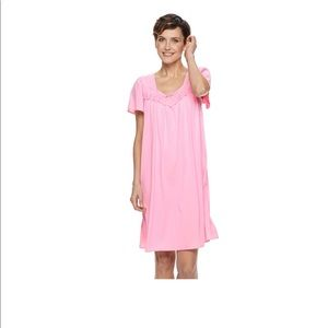 NWT Miss Elaine Short Tricot Nightgown
